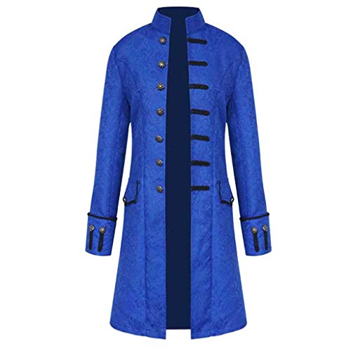 Men's Steampunk Vintage Tailcoat Jacket Gothic Victorian Frock Coat Uniform Halloween Costume Cosplay Fancy Party Overcoat