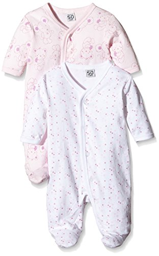 Care Pijama para Bebé Niña, Pack de 2  Rosa (Old Rose 556
