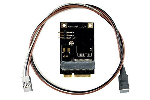 OSXWiFi - Broadcom Apple WiFi + Bluetooth 4.0 Card to miniPCIe Adapter for iMac9,1 - iMac11,2 - iMac12,1 - iMac12,2