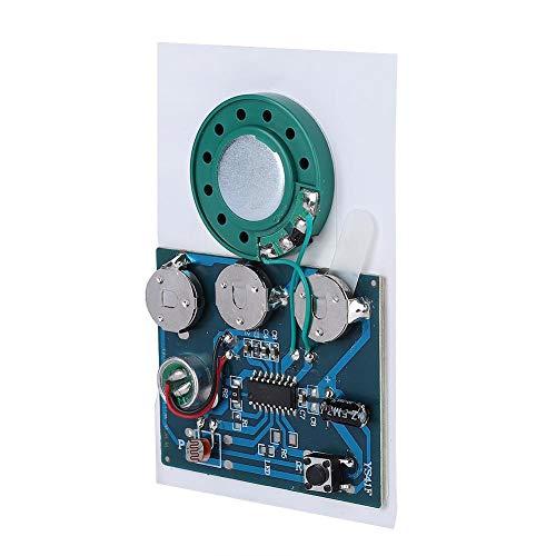 Chip de módulo de voz de sonido de música grabable, grabadora de radio de audio musical Módulo de voz grabable con botones Música Sonido Talk Chip (versión sensible a la luz)