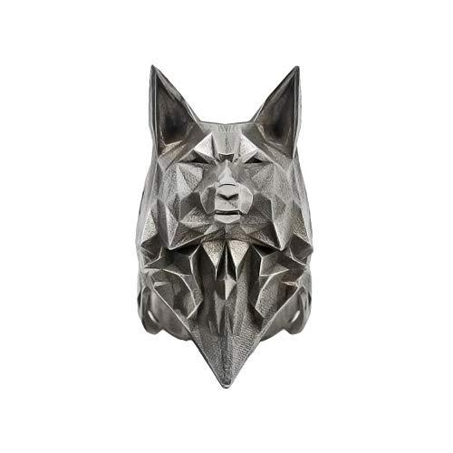 Anillo De Acero Inoxidable Wolf 316L, Joyería De Acero De Titanio, Joyería De Motociclista Animal Minimalista De Moda Para Hombre Para Regalo 12
