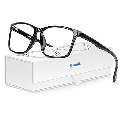 OIAMIK Blue Light Blocking Glasses Men/Women, Anti Eyestrain Computer Gaming Glasses, Blue Light Blocker Anti Glare Eyeglasses Reduce Headaches