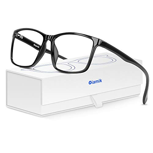Oiamik anteojos de computadora con Bloqueo de luz Azul para Mujer y Hombre con UV400, anteojos Ligeros para Videojuegos, Anti Fatiga Ocular, Dolor de Cabeza, depresión