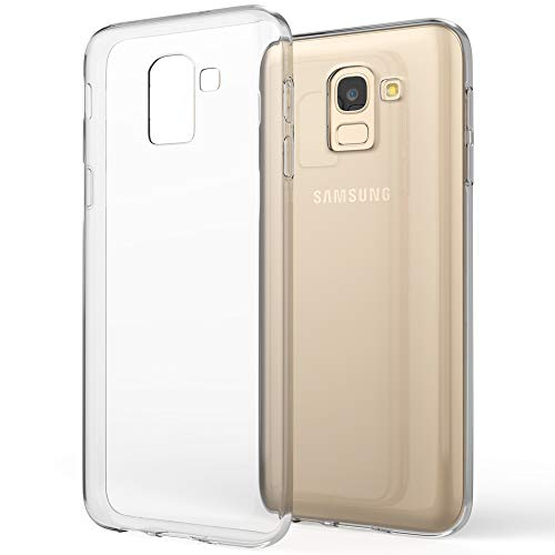 NALIA Handyhülle kompatibel mit Samsung Galaxy J6 (2018) Soft Hülle TPU Silikon Case Cover Crystal Clear, Dünne Durchsichtige Etui Handy-Taschen Schutzhülle, Transparent Phone Back-Cover Bumper