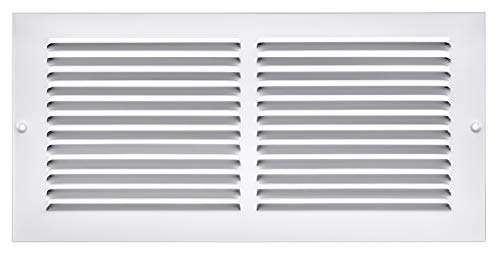 Accord ABRGWH146 Return Grille with 1/2-Inch Fin Louvered, 14-Inch x 6-Inch(Duct Opening Measurements), White