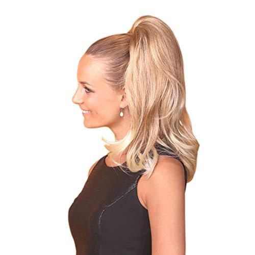 VANESSA GREY Queue de Cheval Ponytail Toutes les couleurs disponibles, L'extension De Cheveux Extra Longue Et Volumineuse Postiche 21 Blonds Champagne