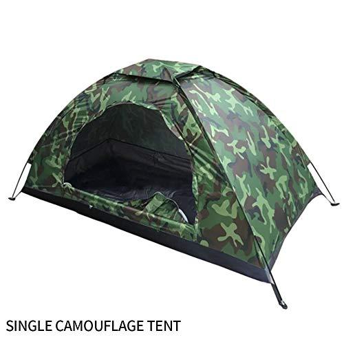 Rosepoem Outdoor Camping Zelt Tarnung 1 Person UV-Schutz Wasserdichtes Kuppelzelt zum Wandern, im Freien, Klappzelte mit tragbarer Tragetasche