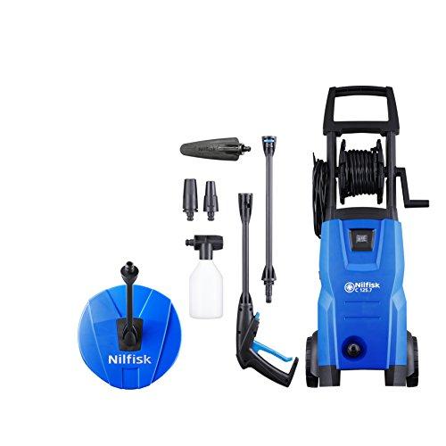 Nilfisk C 125.7 – 6 Home X-tra högtryckstvätt Tillbehör terrass och borste Bil 125 barer, 1500 W, 240 V, blå