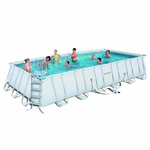 Bestway 56231US marco Rectangular piscina conjunto, 731,52 cm por 365,76 cm por 132,08 cm