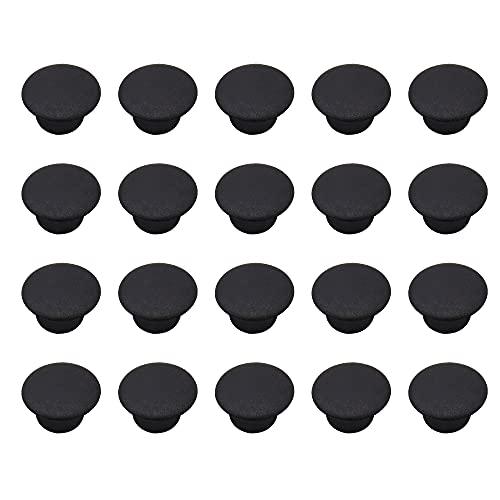 PLCatis 100Pz Tappi Copriforo 10mm in Plastica Tappi di Copertura per Mobili Nero Cappuccio Tappi per Fori di Perforazione Cerniera Coperture Decorative per Cassetto Armadietto