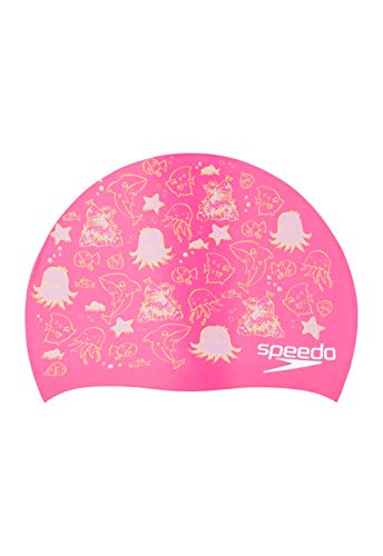 Speedo Unisex-Child Swim Cap Silicone Elastomeric Kids