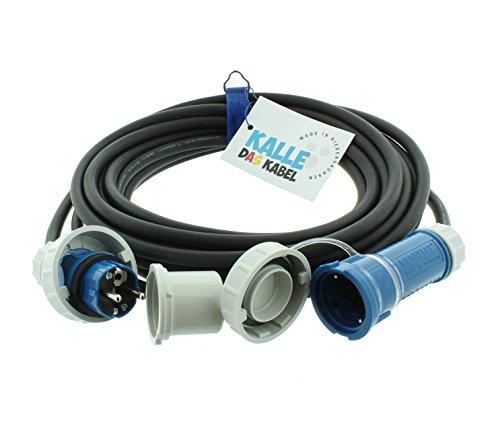 AQUASAFE Druckwasserdichte Gummiverlängerung IP68 H07RN-F 3G 2,5mm² von KALLE DAS KABEL 10 Meter