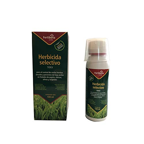 TIDEX Herbicida Selectivo de Olivos, Céspedes, Cítricos y Frutales de Pepita, 100 ml
