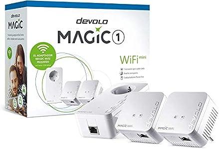 devolo Magic 1 WiFi Mini: Compacto Multiroom Kit para una WiFi eficaz Que Llegue a Varias Habitaciones por los Cables de Corriente a través de Las Paredes y los techos, Mesh, tecnología G.hn,