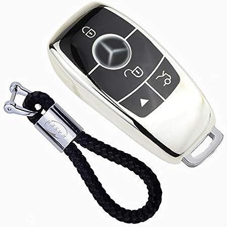 XUKEY Custodia in pelle per chiave Mercedes benz CLS CLA GL R SLK AMG A B C S classe w//portachiavi