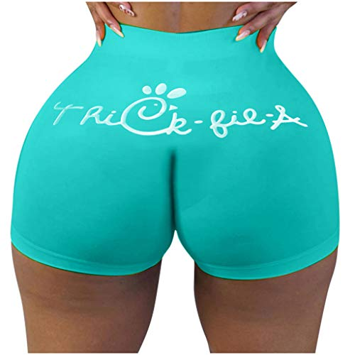 Damen Sport Shorts Tight Kurze Hosen Pants Brief Druck Stretch High Waist Fitness Running Jogginghose Laufshorts Hotpants Yoga Shorts Schnell Trocknend Homewear Sweatpants