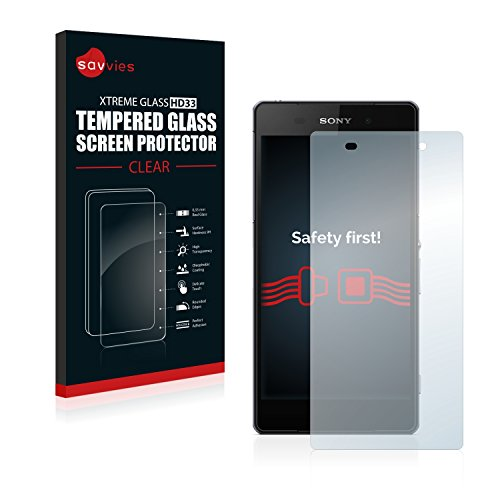 Savvies Panzerglas kompatibel mit Sony Xperia Z2 D6503 - Echt-Glas, 9H Härte, Anti-Fingerprint