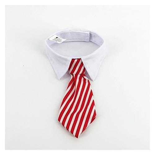 XXWW Cxwypd Corbata Gato Lindo Mascota Corbata Collar de Perro Cuello de Gato Pet Pet arqueamiento Corbata Perrito Corbata Inteligente Ropa Mascota (Color : Red Stripes, Size : L)
