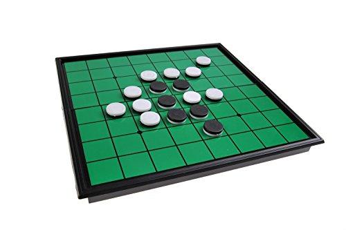 Quantum Abacus Magnetisches Brettspiel (kompakte Reisegröße): Oshello - magnetische Spielsteine, Spielbrett zusammenklappbar, 20x20x2cm, Mod. SC54500 (DE)