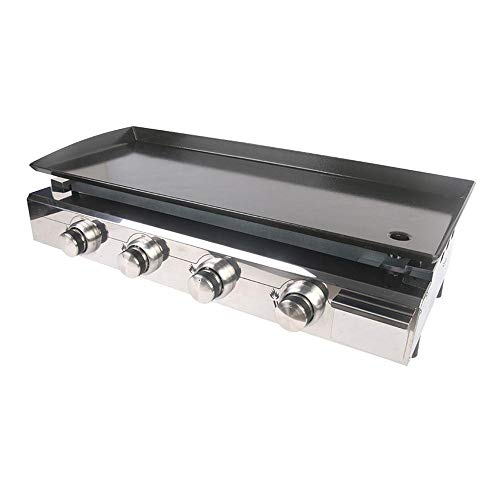 WeiCYN LPG Gas BBQ Grill 4 Brenner Edelstahl Grill Griddle Gusseisen Hot Plate im Freien Barbecue-Tools (Color : 4 Burners)