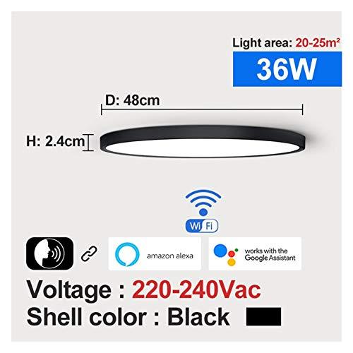 Moderno, Luz de techo inteligente LED moderno 36W 45W Wifi Tuya App Google Inicio Alexa Echo AI Control de voz Montaje de superficie Lámpara de techo para sala de estar, dormitorio, pasillo y más