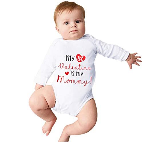 YONSIN Baby Body Babykleidung Junge Mädchen Süß Strampler Outfits Kleinkind Kind Baby Sweatshirt übersteigt Sommer Herbst Kleidung My 1st Valentine is My Mommy