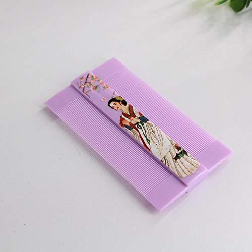FAEIO Altmodisch Ultralight Super Narrow Dent Läuse Kamm - Hergestellt aus hochwertigem Harz - Umweltfreundlich MEHRWEG Taschenkamm antistatische - Geeignet für alle Menschen - 10,5 × 5,8 cm Purple
