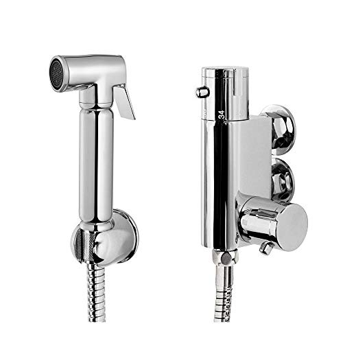 Xcel HomeTM Chrome Thermostatic Bidet Cleaner Moslim Shattaf Douche Alle in een set Douche Hoofd Toilet Spray Hoofd Kwaliteit Messing Materiaal