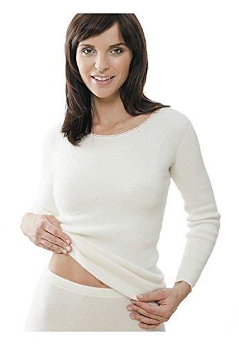 Medima Classic Damen-Hemd 1/1 Arm 100% Angora weiß - Größe XXL
