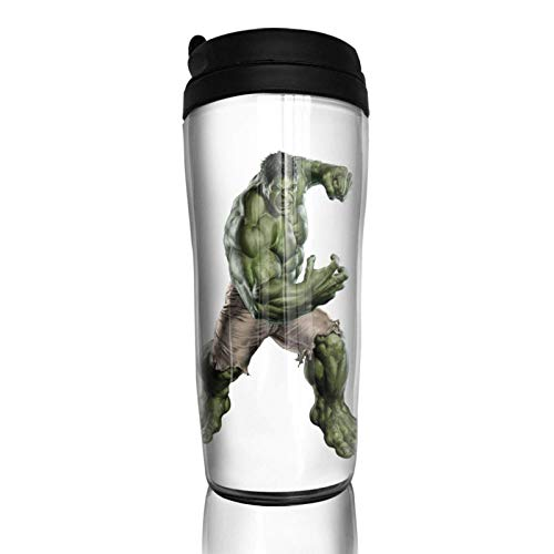 haiyou Sci-Fi Hu-lk - Taza de café de doble pared, 14 onzas aislada botella portátil vasos de viaje 350 ml