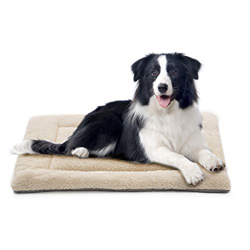 INVENHO Dog Bed Mat Comfortable Soft Crate Pad Anti-Slip Machine Washable Pad Dog Crate Pad Pet Bed