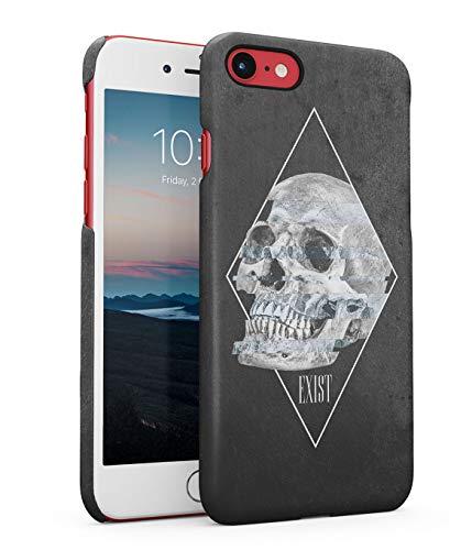 Hülle Hardcase Kompatibel mit iPhone 7 / 8 / SE 2020 Schädel Skelett Tod Gotisch Exist Quote Realistic Human Skull Grunge Skeleton Gothic Trippy Holographic Acid eng Anliegendes Dünnes Handyhülle