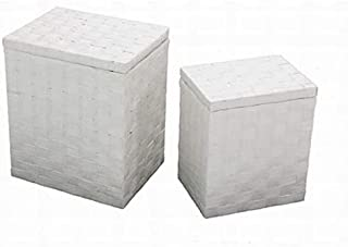 Vacchetti 1914060000 Lot de 2 paniers en Papier, Blanc, Moyen