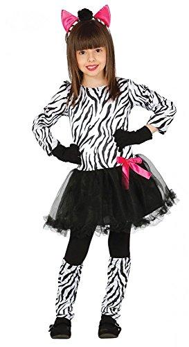 shoperama Mädchen Kostüm - Zebra mit Pinker Schleife - Kinderkostüm, Größe:104 - 3 bis 4 Jahre