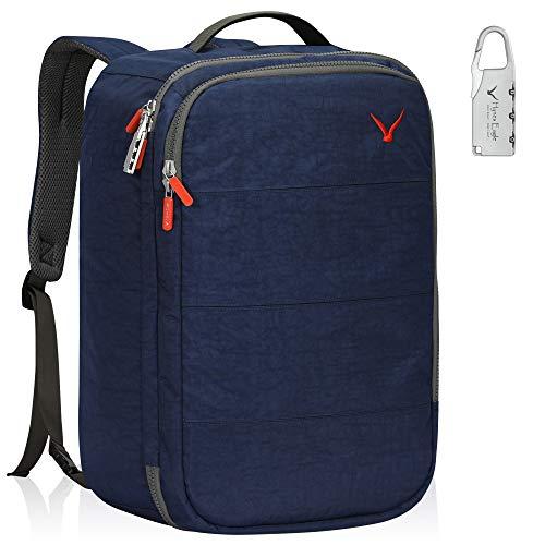 Hynes Eagle 36L Carry on Backpack with RFID Blocking Pocket Flight Approved Back Pack Travel Luggage Weekender Cabin Bag Blue