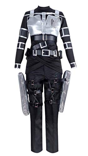 Lixinya Attack on Titan Shingeki no Kyojin Attacchi su Titanio Mikasa Ackerman Halloween Carnevale Suit Cosplay Costume Uomo XXXL