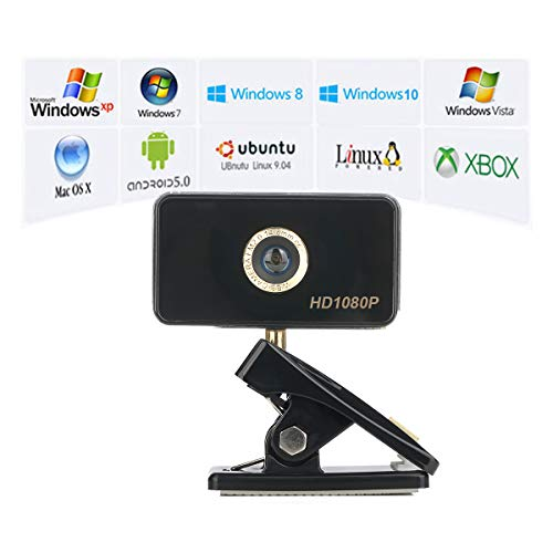 YoLuKe Cámara Webcam 1080P HD PC, cámara Web con micrófono, computadora portátil, cámara USB Plug and Play,Compatible con Windows, Mac, computadora portátil miniatura
