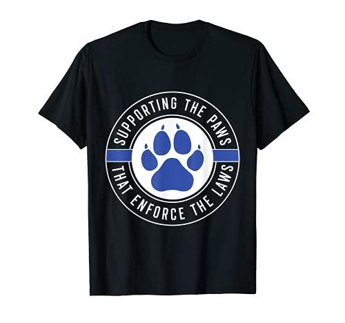 K9 Police Officer Support T-Shirt Law Enforcement Gift