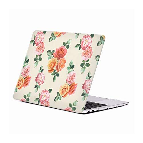 Head Case Designs Oficial Micklyn Le Feuvre Melocotón y Rosas Rosadas Florales Carcasa Rígida Compatible con Macbook MacBook Pro 13' A1989 / A2159