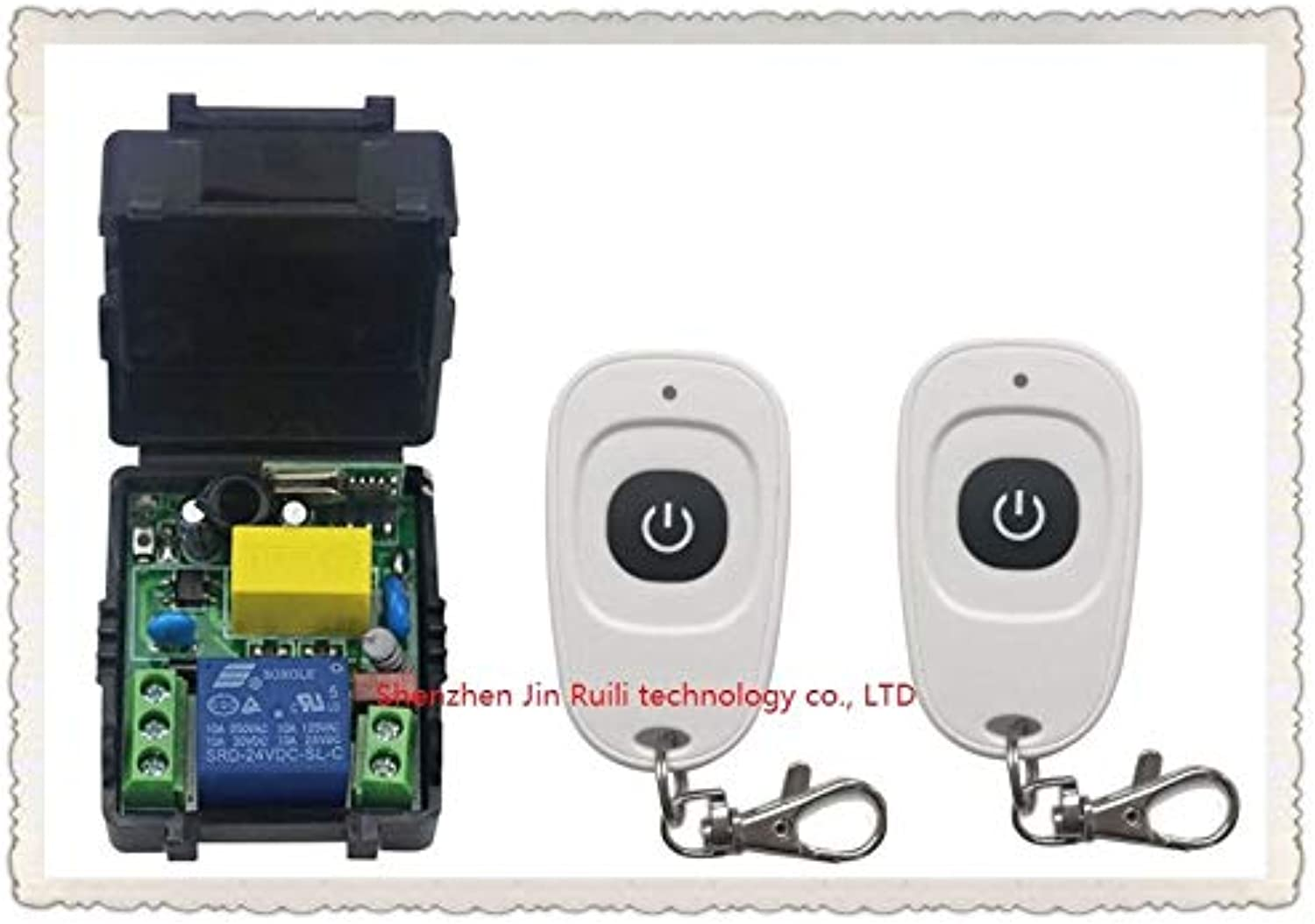 Latest AC220V 1CH Wireless Remote Control Switch System Receiver &2pcs oneButton White Waterproof Remote 315mhz 433mhz