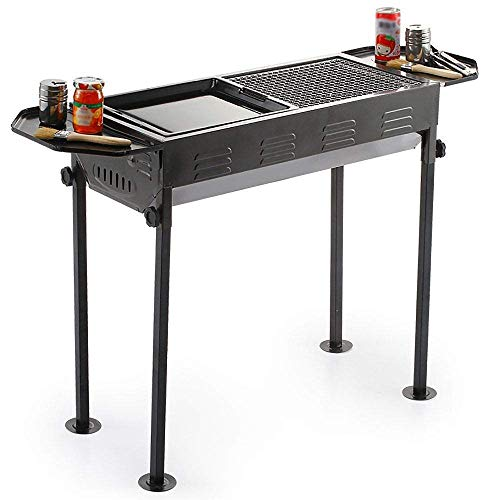 Best Prices! Nhlzj BBQ Supplies/Barbecue Camping Barbecue Grill Folding Outdoor Charcoal Smokeless G...