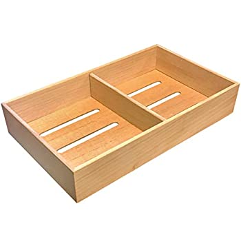 Prestige Import Group - Universal Spanish Cedar Tray with 1 Adjustable Divider for Storage or Cigars - Size  12.5  x 7.5  x 2.25