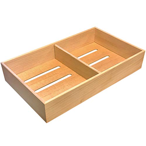 Prestige Import Group - Universal Spanish Cedar Tray with 1 Adjustable Divider for Storage or Cigars - Size: 12.5' x 7.5' x 2.25'