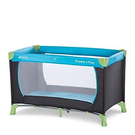 Hauck Cuna de Viaje Dream N Play, para Bebes y Niños de Nacimiento hasta 15 kg, 120 x 60 cm, Plegable, Compacta, Ligera, Incluido Bolsa de Transporte, Azul