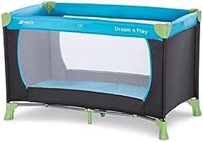 Hauck Dream'n Play, Resesäng 120 x 60 cm från Födseln till 15 kg, 3-Delad Resesäng med Vikbar Madrass och Bärväska,...