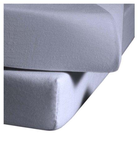 Fleuresse Comfort Elasthan Jerseyspannlaken für 180 x 200 - 190 x 220 cm Matratzen (bis Höhe 25 cm), helles lavendel