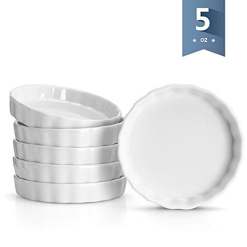 Sweese porzellan remakins für creme brulee set von 6 runde form weiß
