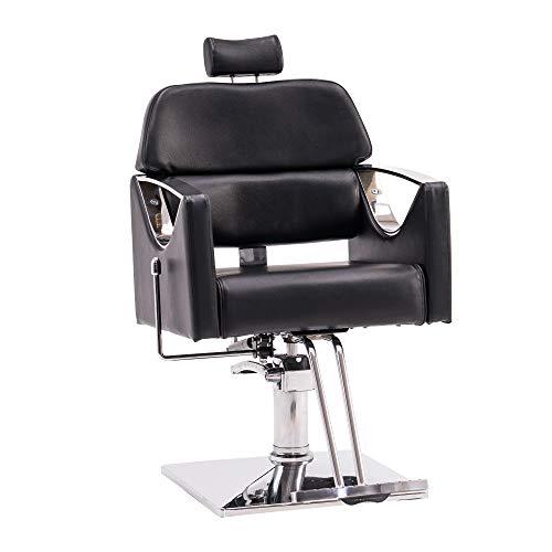 BarberPub Classic Recliner Barber Chair Heavy Duty Hair Spa Salon Styling Beauty Equipment 3126