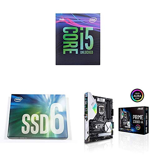 Intel Core i5-9600K Desktop Processor 6 Cores up to 4.6 GHz Turbo Unlocked with Intel SSD 660p Series and ASUS Prime Z390-A Motherboard LGA1151