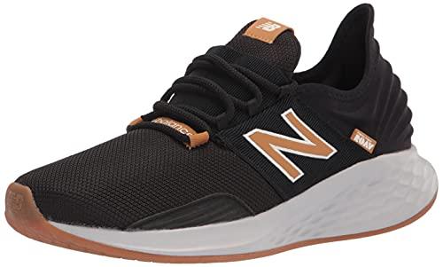 New Balance Men's Fresh Foam Roav V1 Running Shoe, Black/Team Red/Cobalt, 9.5